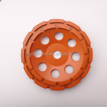 Concrete Brazed Diamond Double Row Grinding Cup Wheels For Long Life