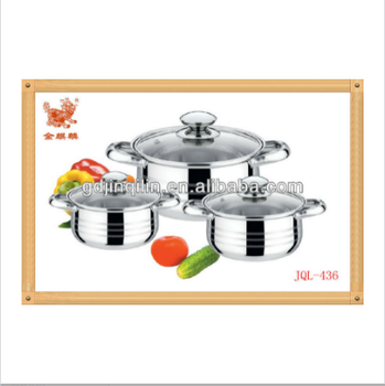 newest hot selling stainless steel set masterclass premium cookware for home use