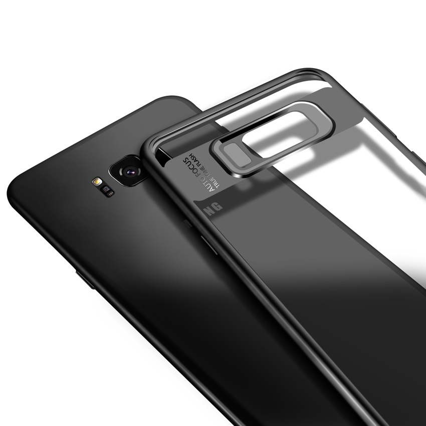 Ultra Slim Transparent Clear TPU PC Mobile Phone Case Cover For Samsung Galaxy Note 8 S8 Plus
