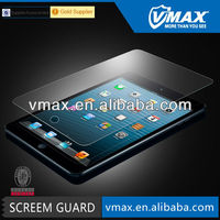 2013 New design tempered glass screen protector / tempered glass screen guard / screen film for IPad mini (AG)