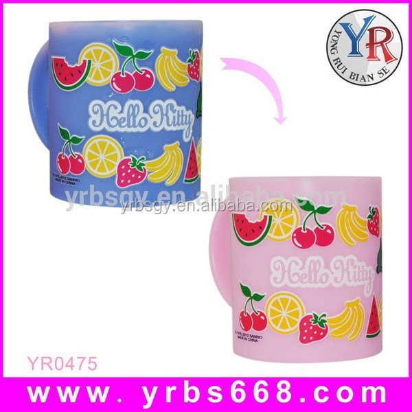 manufacturer supply 11oz straight body custom color changing mug,magic cup sublimation