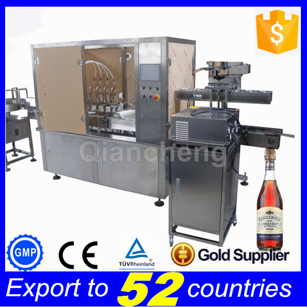 ODM supplier full automatic Spirit bottle filling machine,300ml alcohol filling line