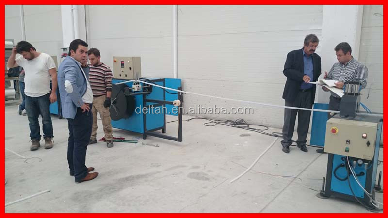 Electric cable through corrugation plastic pipe extrusion line