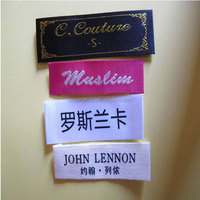 Garment woven label clothes printed label and tags for Summer Fashion T-shirt Women/Men Clothing