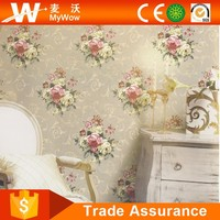[A29-4DA1561] Elegant Luxury PVC Chinese Flower Character Embroidery Specialized Wallpaper