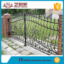 Chinese Steel gate design factory wholesale samples of steel gate/modern steel gates designs /iron pipe gate designs