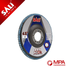 Coated abrasive stainless steel sanding abrasive flap disc