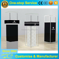 Gold Supplier Top Quality Wooden Corner Glass Display Cabinet Store Showcase Furniture Factory