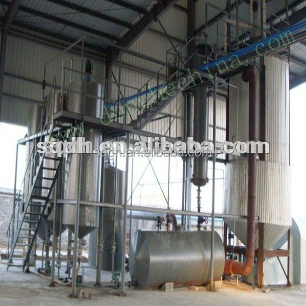 used engine oil recycling machine with latest technology 6 to 10 tons capacity