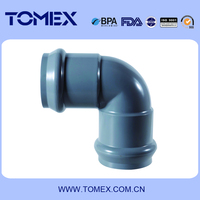 Gre elbow Rubber PVC fittings L02 R-90 elbow in pipe fittings