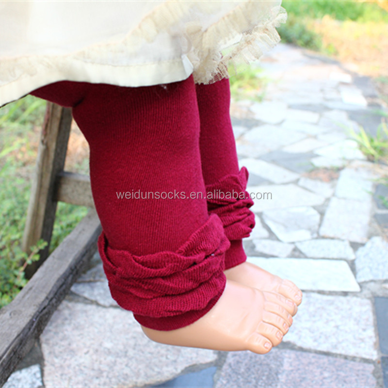 hot sale high quality ruffle leggings warm terry baby infant leggings