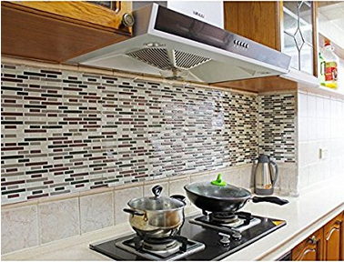 2016 NEW Kitchen Backsplash Peel and Stick Tiles Faux Subway Glossy Wall Tiles 4 Sheets Camper Rv