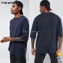 Blank apparel supplier OEM supplier oversized half sleeve crew neck t shirt mens