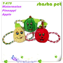Watermelon,Pineapple and Apple plush squeaker pet toy,dog toy in pet product
