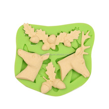 Christmas elk series DIY silicone ice molds candy or cake baking tools