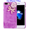 Top Seller 3D Flower Plush Cloth Protective PC Cover for iPhone 7 Plus Case