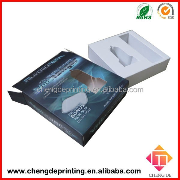 Car Charger Paper Box, Car Charger Packaging, Car Charger Box