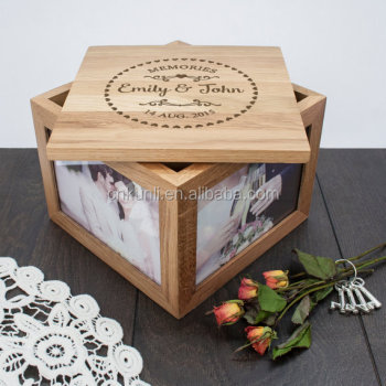 Neo style Couple Round Heart Frame- Large Keepsake Box Wedding Gift Box
