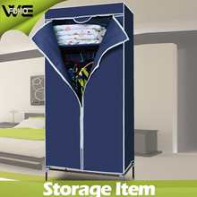Bedroom wardrobes,New style portable non-woven fabric metal steel wardrobe