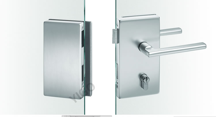 Sliding Central Frameless Glass Door Lock Electric Sliding
