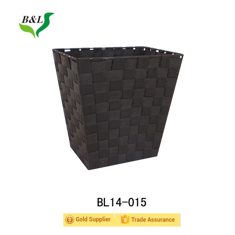 Nylon rayon material square woven storage basket made in Qingdao 14-015