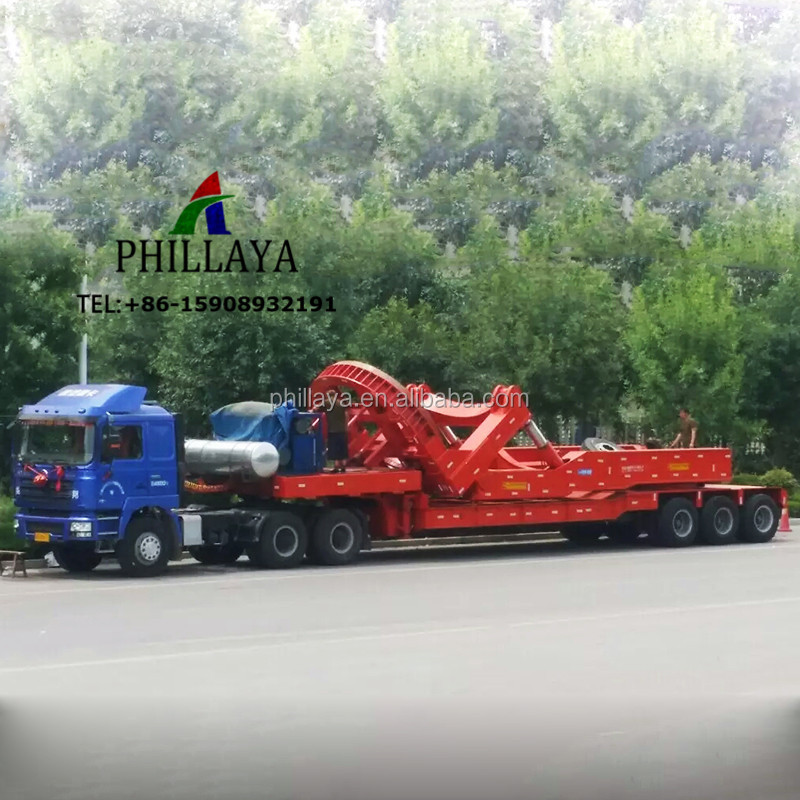 Super Wing Carrier Semi Trailer/Wind Blade Lowbed Trailer For Mountain Road Transport