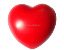 Heart Shape Solid Foam Inside Pressure Release PU foam Anti Stress Ball for brand promotion
