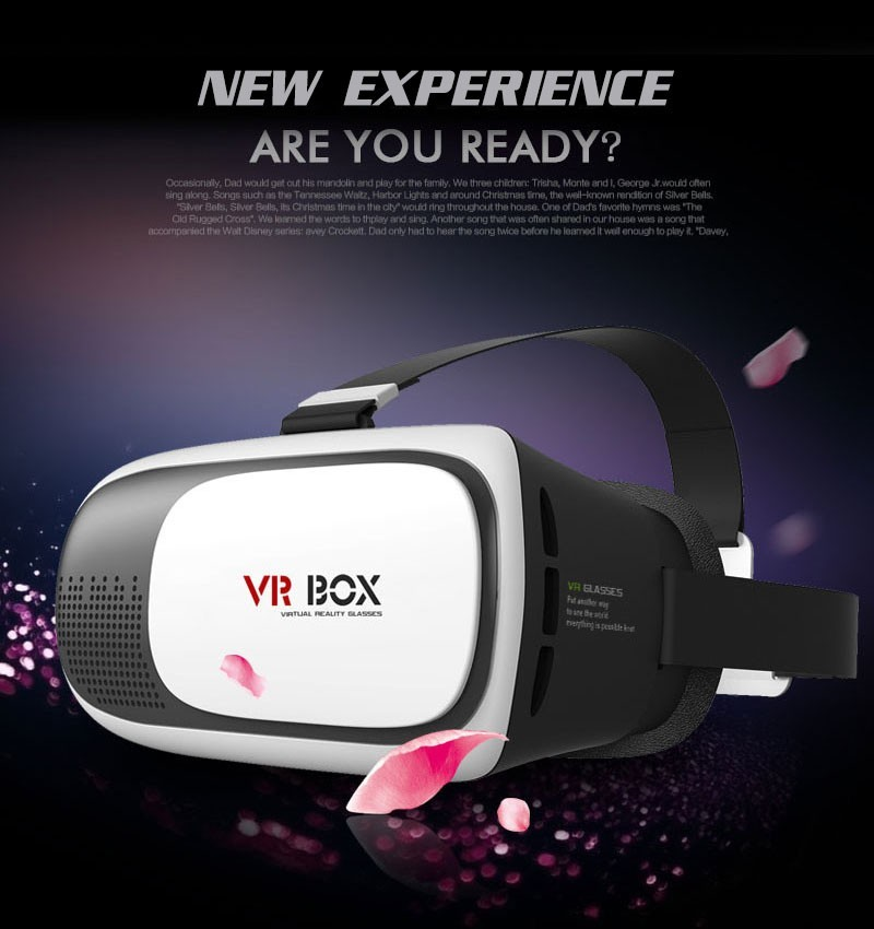 Factory price 3D VR Box 2nd Virtual Reality Glasses Cardboard Movie Game for Phone