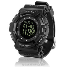 Wholesale Black big face digital watch for man army style watch