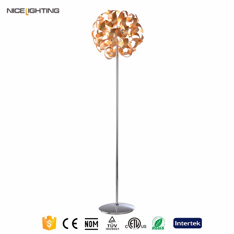 Metal and Crystal decorative modern floor lamp