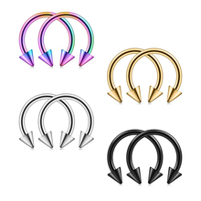 Hot Sale Horseshoe Titanium Micro Circular Barbell Piercing Nose Septum Rings Piercing Body Jewelry