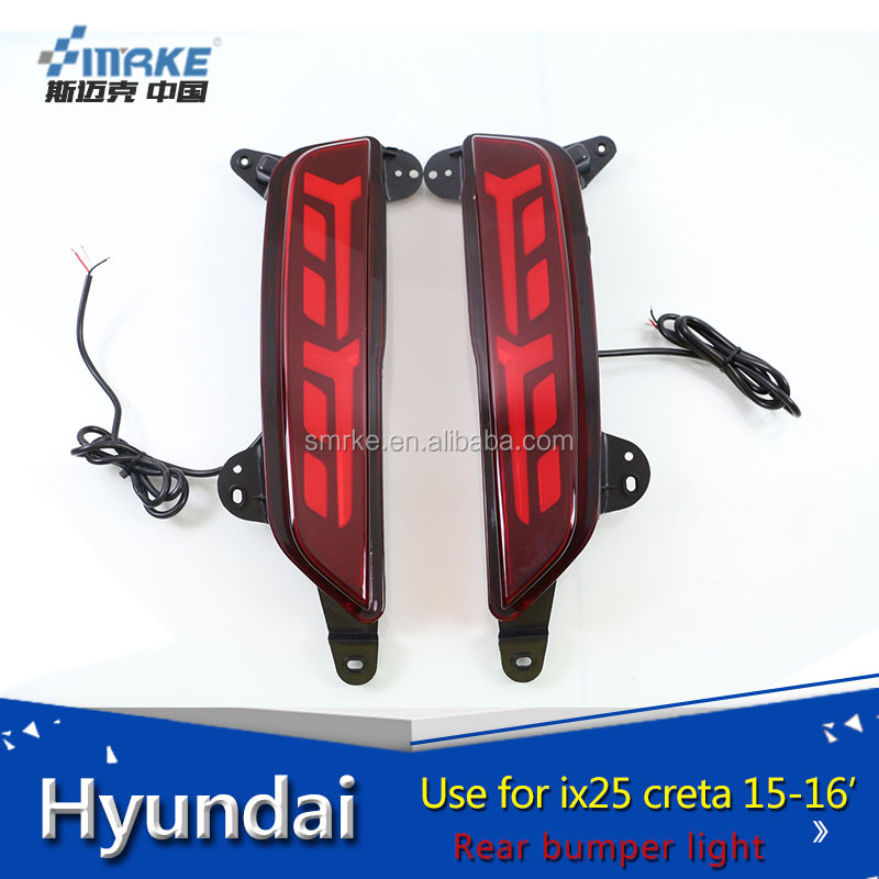 china factory led rear bumper light For cob led bar hyundai creta ix25 bumer light, tail light