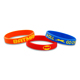 Personalized Rubber Glow In The Dark Charm O Ring Silicone Strap Band Bracelet Accessories