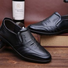 Soft slip on men shoes genuine leather casual mens leather loafer shoes