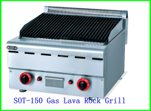 China acero inoxidable commerical indoor mostrador superior imprimación ronud gas barbecue grill de china