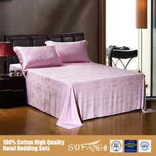 Nantong Gold Sufang Bamboo Fiber Bedding Sets for Home Use/Pink Color Bed Lined Sets Pictures