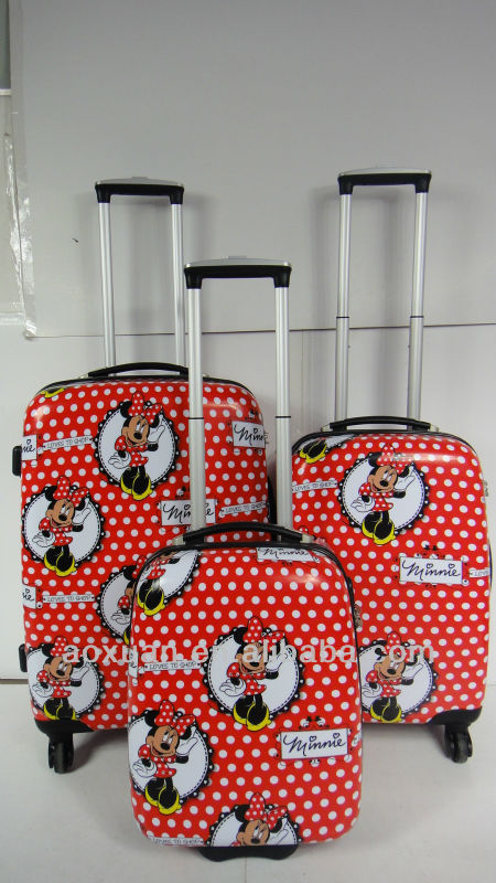 pet travel bag 2014 popular trolley bag butterfly printing ABS+PC film trolley case