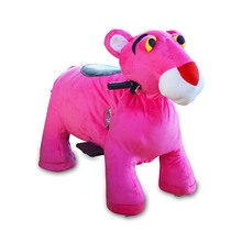 Walking Scooter Animal plush electronic kid riding horse toy in shopping mall