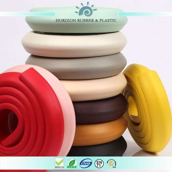 foam rubber custom color NBR glass table edge guard protector