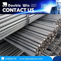 Construction materials reinforced twisted steel bars, reinforcing steel bars prices