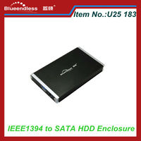 Portable 2.5 Inch USB 2.0 SATA External HDD Case Support 2TB Hard Disk
