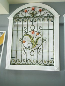 decorative wrought iron window