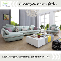Low price colourful latest fabric sofa WQ8877