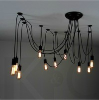 Edison bulb chandelier interior chandelier vintage style suspension lamps for wholesales beautiful design
