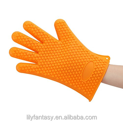 BBQ Grilling Gloves Most Versatile Oven Mitts Hot Pads Insulated & Waterproof. Total Finger, Hand, Wrist Protection