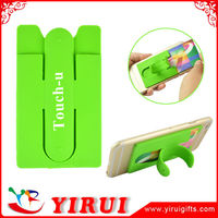 advertising sticky smart phone back case coloured card holder stand