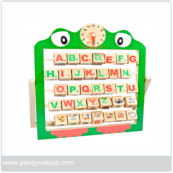 Refined wooden alphabet abacus, educational toy for 2015