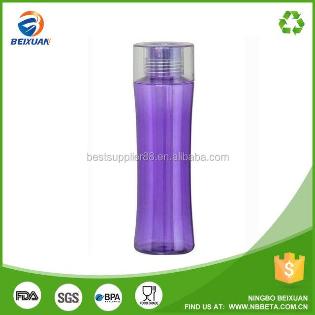750ml Crystal diamond shaped caps sport water bottles plastic water bottle