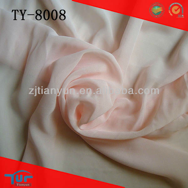 new arrival 75d new style purple soft handing dyed china chiffon fabric