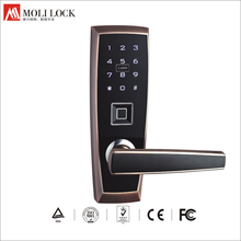 2017 Alibaba Wholesale High Security Door Handle Lock Smart RFID Card Code Lock With Fingerprint Reader